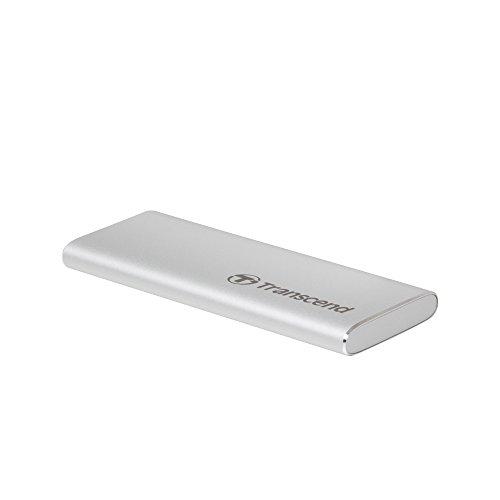 Transcend Information 240GB Portable SSD TLC USD 3.1 Gen 2, Silver (TS240GESD240C) by Transcend (Image #1)
