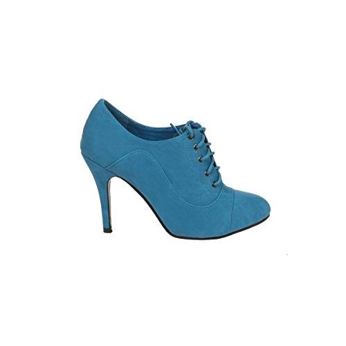 Modeuse Cordones azul azul de Mujer La Zapatos SwqCaF