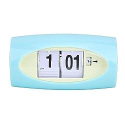 Delaman Auto Flip Clock, Temperature Display Clock Alarm ClockDisplay Retro Home Decor Green (Battry Not Include)