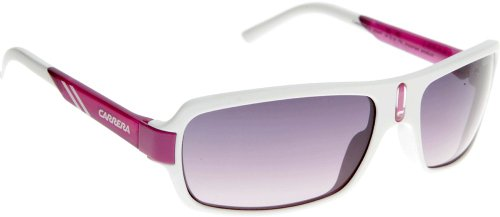 Carrera Kids Carrerino 8 White / Blue Frame/Grey To Fuchsia Lens Plastic Sunglasses