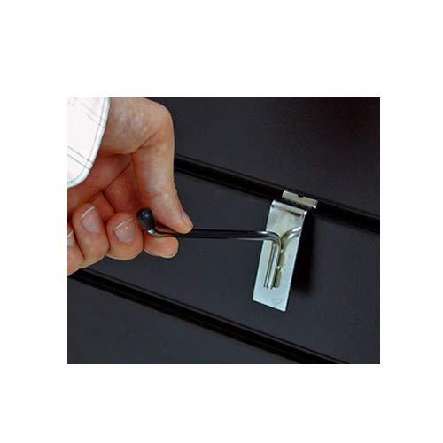 10/cm 10/x cromado Slatwall Ganchos diente brazo pantalla de tienda minorista//tama/ño 4/