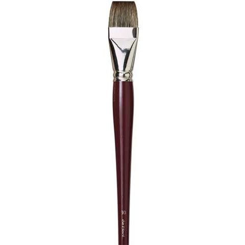 da Vinci Oil & Acrylic Series 1840 Oil Paint Brush, Bright Russian Black Sable, Size 24 (1840-24) by da Vinci Brushes