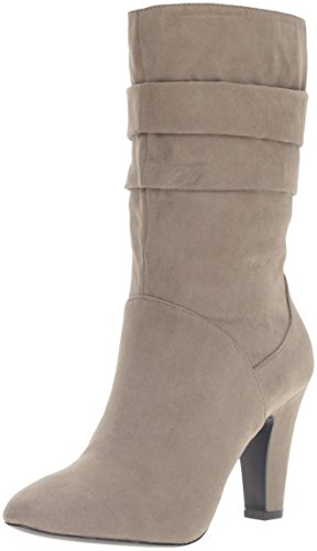 Suede Mid Calf Boots - 9