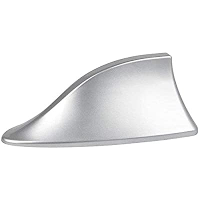 Heart Horse Upgraded Signal Universal Shark Fin Antenna Cover FM/AM Radio Aerial Replacement for BMW/Honda/Toyota/Hyundai/Kia/etc Silver: Automotive
