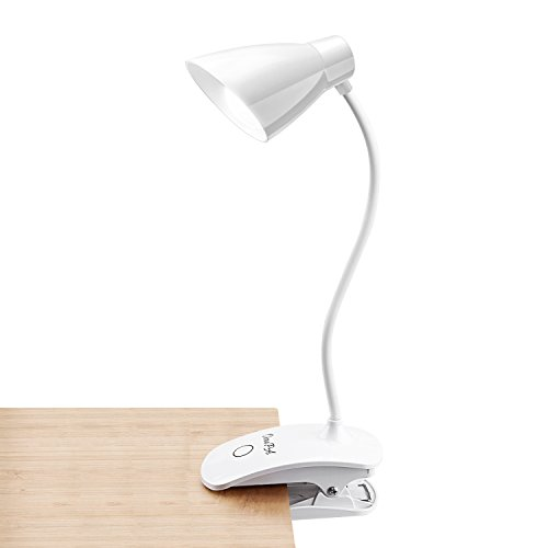 Clip on Light, OCOOPA Touch Switch 3 Levels Brightness Reading Lamp, USB Rechargeable Book light,Bedside lamp, Portable Desk Lamp with Good Eye Protection for Studing,Reading,Working …