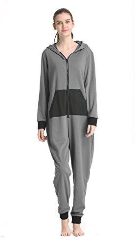 Saifeier Women Unisex Adult Animal Sleep Suit Cosplay Costume Pajamas Outfit Costume Nightclothes Onesies Clothing Pajamas Tracksuit(Grey,L)