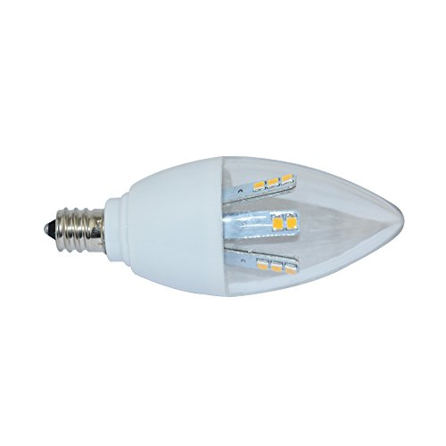(Excellent Cool White E12 280LM 5W LED Candle Lamps Chandeliers 15 SMD2835 100-120V (Pack of 1))
