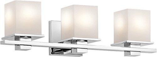 Kichler 45151CH Tully Bath 3-Light, Chrome (Chrome Bathroom Bulbs Kichler)