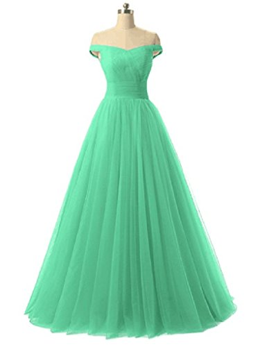 Mint Dress Dresses Tulle Evening Long Women's Prom Shoulder Off Bridesmaid ANGELA vqxwSpn