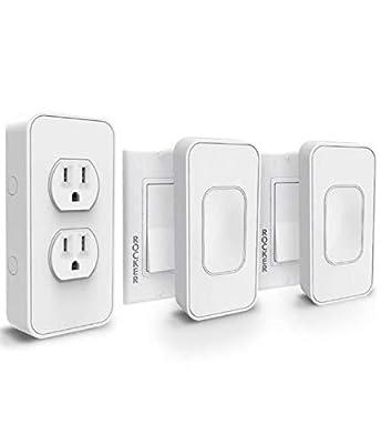 Switchmate Kit: 1 Smart Power Outlet + 2 Rocker Switches White Starter Kit SKLPP00R2