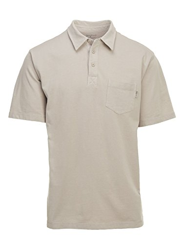 (Woolrich Men's First Forks Polo, Stone, Small )