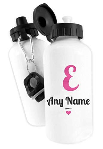 Wdensyon Personalized Alphabet Pink Letter E Water Drinks Bottle Aluminium Birthday Christmas School Sports - Letter Aluminium