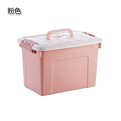 KXZDAS Llanura Caja de Almacenamiento de plástico con Mango Cubierto de clasificación de Almacenamiento de Cajas