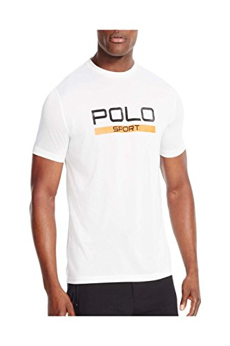 Polo Sport® Men's Performance Jersey Short Sleeve T-Shirt (X-Large, Pure White)