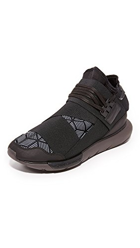 Y-3 Men's Qasa High Sneakers, Black/Black, 8 UK (9 D(M) US Men)