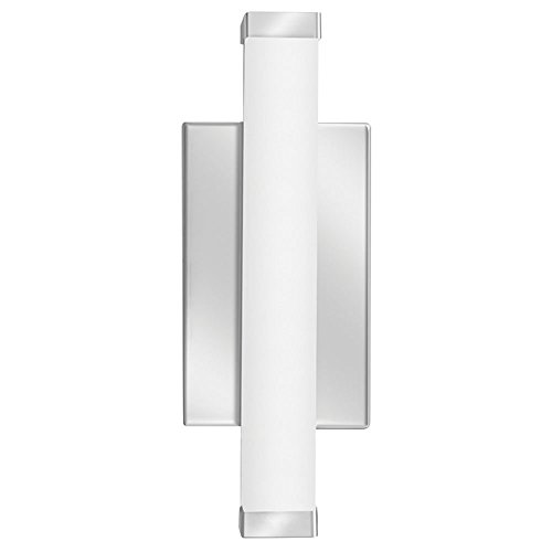 Lithonia Lighting Contemporary Square 1 Foot Chrome 3K LED Decorative Wall Light, ()