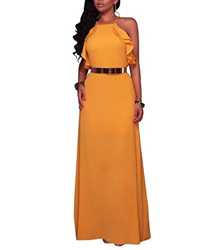 halter neck backless dresses - 7
