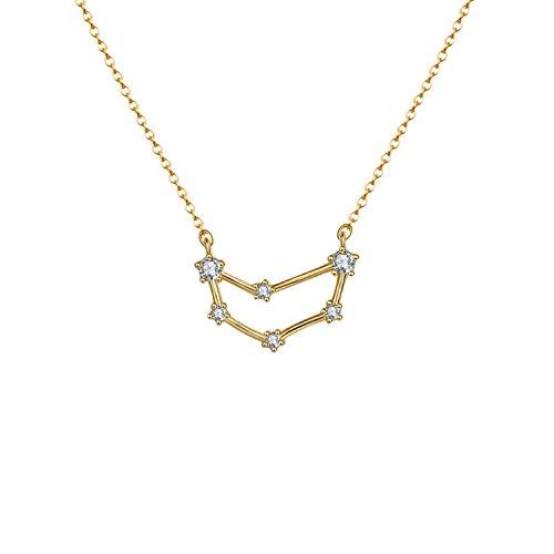 OSIANA Capricorn Constellation Necklace 14K Gold Plated Pendant Dainty Horoscope Sign Zodiac Model Choker Personalized Birthday Gift for Women