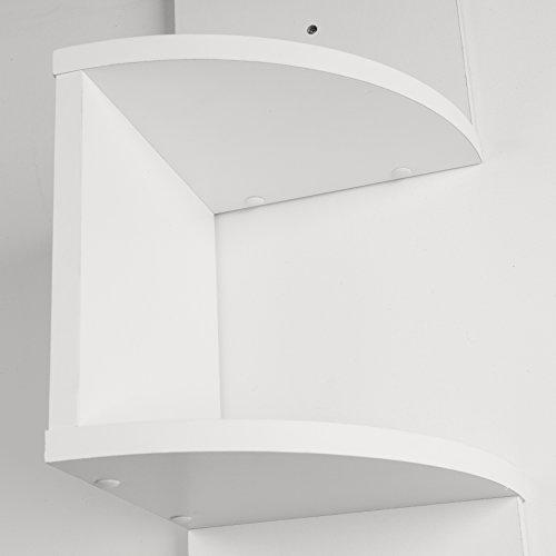 Danya b large white laminate zig zag corner wall shelf import it all - Danya b corner shelf ...