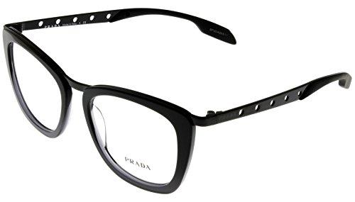 Prada Unisex Eyeglasses Designer Black Square PR60RV - Discount Prada Glasses