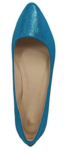 Walstar Baskets À Bout Pointu Pour Femmes Ms518-blue