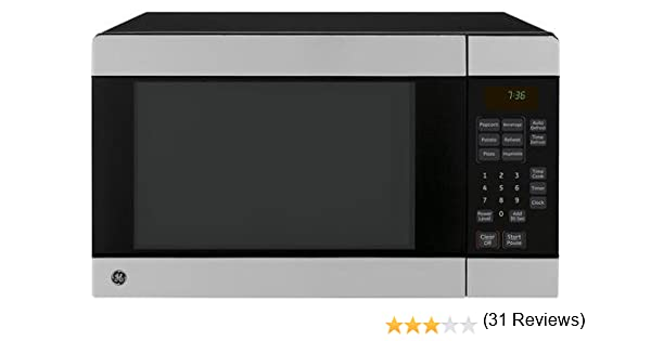 amazoncom ge jes0736spss 07 cu ft countertop microwave oven with 700 watts stainless steel appliances