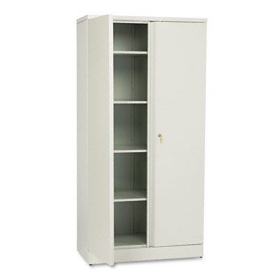 72 in. Storage Cabinet w Magnetic Door Clip (Light Gray) by basyx by HON
