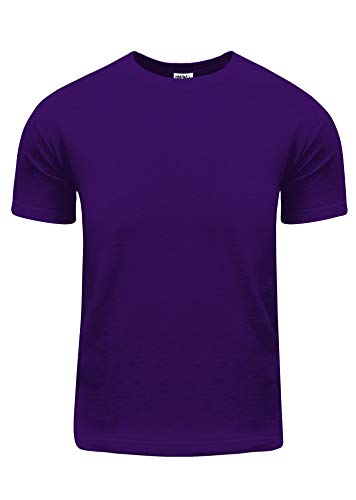 (ACS08_3X Active Short Sleeve T Shirt S~5XL by Fitscloth Purple 3X)