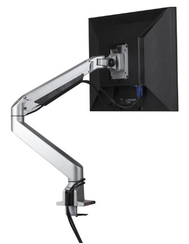 Tilt Pan Pivot - Single Monitor Arm Desk Mount Stand Articulating Ergonomic Adjustable Tilt Pan Up to 30