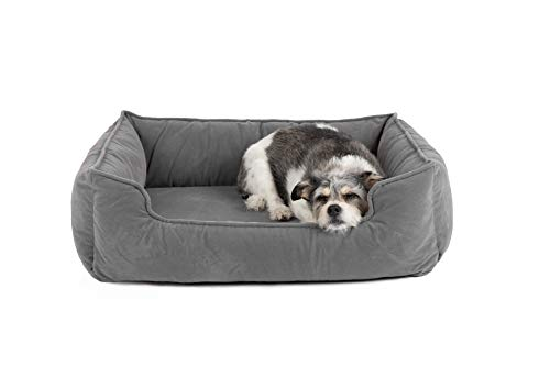 Petsbao Premium Orthopedic Dog Bed Lounge with Solid Memory Foam Waterproof Liner Washable Removable Cover Superior Comfort to Ease Pain of Arthritis Hip Dysplasia