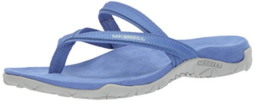 (Merrell Women's Terran Ari Post Sport Sandal, Baja Blue, 11 Medium US)