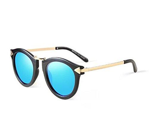 Sol Personalidad Azul de Marea Blue KOMNY 550 Grados Redonda de Hielo Ice Gafas Finas Hembra 150 Miopía Gafas Cara Grado de Sol Of Degrees Copas de RAwPEq