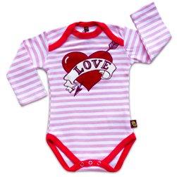 Pelele de adhesivo de amor corazón rosa/blanco rayas - edad 6 - 9 meses/ropa de bebé/chaleco/recién nacido/diseño de ropa de bebé: Amazon.es: Bebé