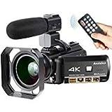 4K Camcorder, Ansteker Ultra-HD 1080P 24MP 30FPS Digital WiFi Video...