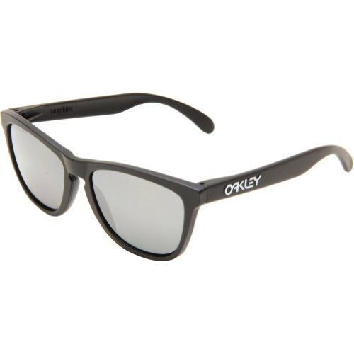 Oakley Mens Frogskins 24-297 Polarized Cat Eye Sunglasses,Matte Black Frame/Black Iridium Lens,One Size - Frogskins Sunglasses