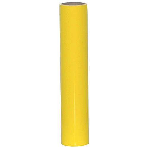 Vinyl Oasis Craft & Hobby Vinyl - Gloss w/ Permanent Adhesive - 12 in. x 10 ft. Roll - Daffodil Yellow