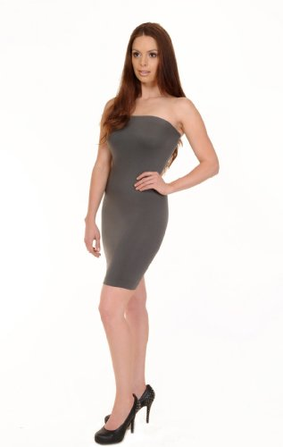 Love My Seamless Women's Juniors Fashion Tube Strapless Dress Clubwear Cami
