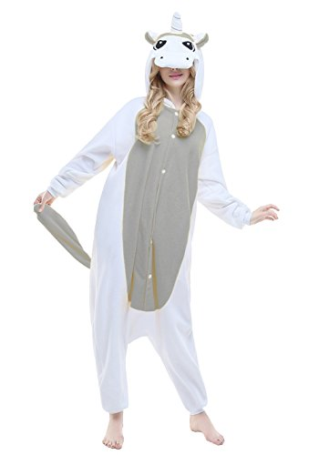 Lucky 7 Halloween Costumes (NEWCOSPLAY Halloween Cosplay Costumes Adult Unicorn Pajamas (L-for height 5'7