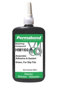 250mL Bottle Permabond HM160 Green Fast-Setting Retaining Compound by PERMABOND (Image #1)