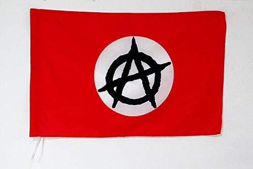 AZ FLAG Bandera de la ANARQUÍA con CIRCULO Blanco 150x90cm para Palo - Bandera ANARQUISTA 90 x 150 cm: Amazon.es: Coche y moto