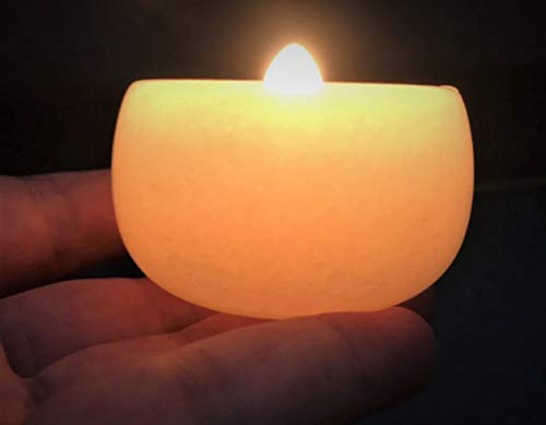 Jade Stone tealight Holder Translucent Candle Holder Votive Candle Holder Essential Oil Diffuser Scent Diffuser Candle Burner Handmade by Nature Calcite Alabaster Marble (50mm D, 34mm H)