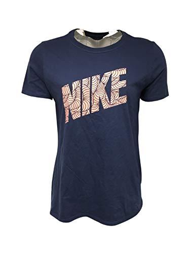 Nike Women's T-Shirt 100% Cotton CU2813 Blue 1