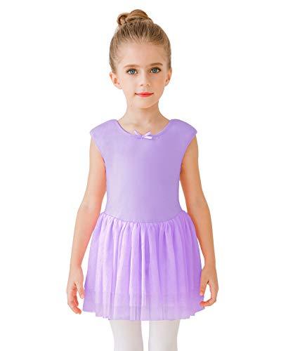 STELLE Girl's Sweetheart Neckline Tank Top Tutu Dress Leotard for Dance/Gymnastics/Ballet(Toddler/Little Girls/Big Girls) (Tag110 (6-7Y), Purple (Tutu))