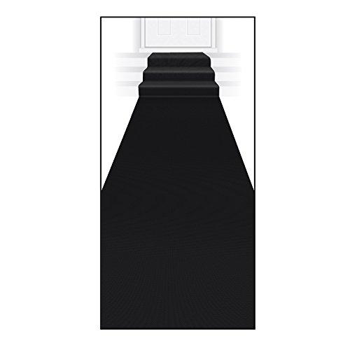 Beistle Carpet Runner, 24in by 15 ft, Black -