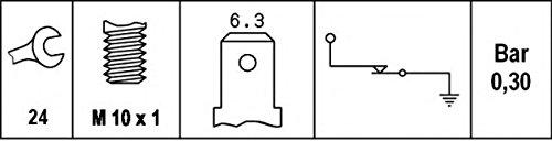 HELLA 6ZL 003 259-641 Interruttore a pressione olio, Dimensioni filettatura M10x1, 0,15 a 0,35 bar Hella KGaA Hueck & Co. 95019678