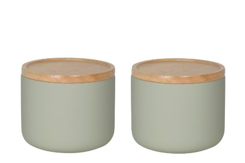 Now Designs Canister, Small, Agate Grey, Set of (Small Kitchen Canister)