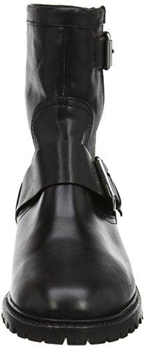 Dames Inconnues Munitions Bottes De Motard W Noir (en Cuir Noir)