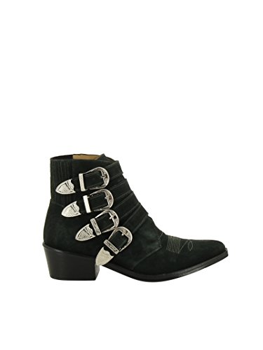 Toga Pulla Women's AJ006GREEN Green Suede Ankle Boots