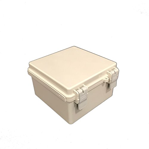 Bud Industries NBF-32010 Economy Box - Plastic Indoor Electrical Box - Standoff Wall Mounting Weather Proof Electrical Unit. Industrial Electrical Boxes