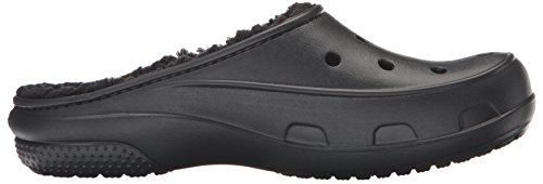 Clog Plush Nero A black Collo Basso Freesail Donna Crocs Pantofole black Lined StxTwRWqp